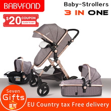 2017 3 in 1 baby strollers light baby car sleeping basket newborn baby carriage 0~36 months Europe baby pram carriage five color new arrival brand baby strollers 3 in 1 baby carriage super light baby strollers eu standard 3 in 1 baby strollers