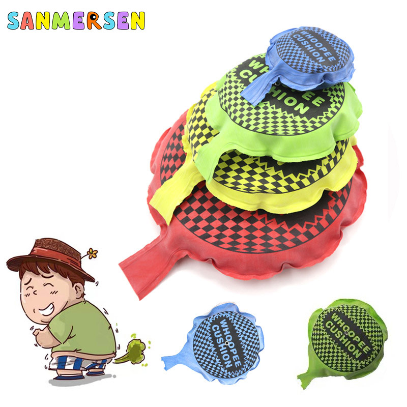 Kids Fun Baby Prank Toys Whoopee Cushion Jokes Gags Pranks Maker Tricky Funny Seat Fart Sound Pad Pillow For Children Adult Toys