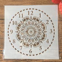Новинка 15х15 см часы с цветочным циферблатом сделай сам многослойные