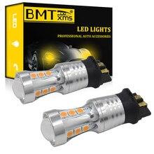 BMTxms 2x Canbus PW24W PWY24W del coche LED Bombilla de señal intermitente bombillas para Audi A3 A4 A5 Q3 Volkswagen MK7 Golf CC Ford Fusion