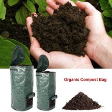 Saco de adubo caseiro fermento orgânico pe composto saco cozinha resíduos de eliminação jardinage potager jardim acessórios