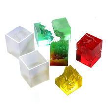 DIY Double-Sided Mountain Decor Silicone Mold Jewelry Fillings Pendant Accessory Charms Handmade Epoxy Resin Mould Craft