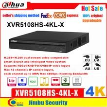 Dahua XVR 4K XVR5108HS 4KL X H.264 / H.265 IVS 스마트 검색 최대 8MP HDCVI/AHD/TVI/CVBS/IP 비디오 입력 지원 PSP Lite