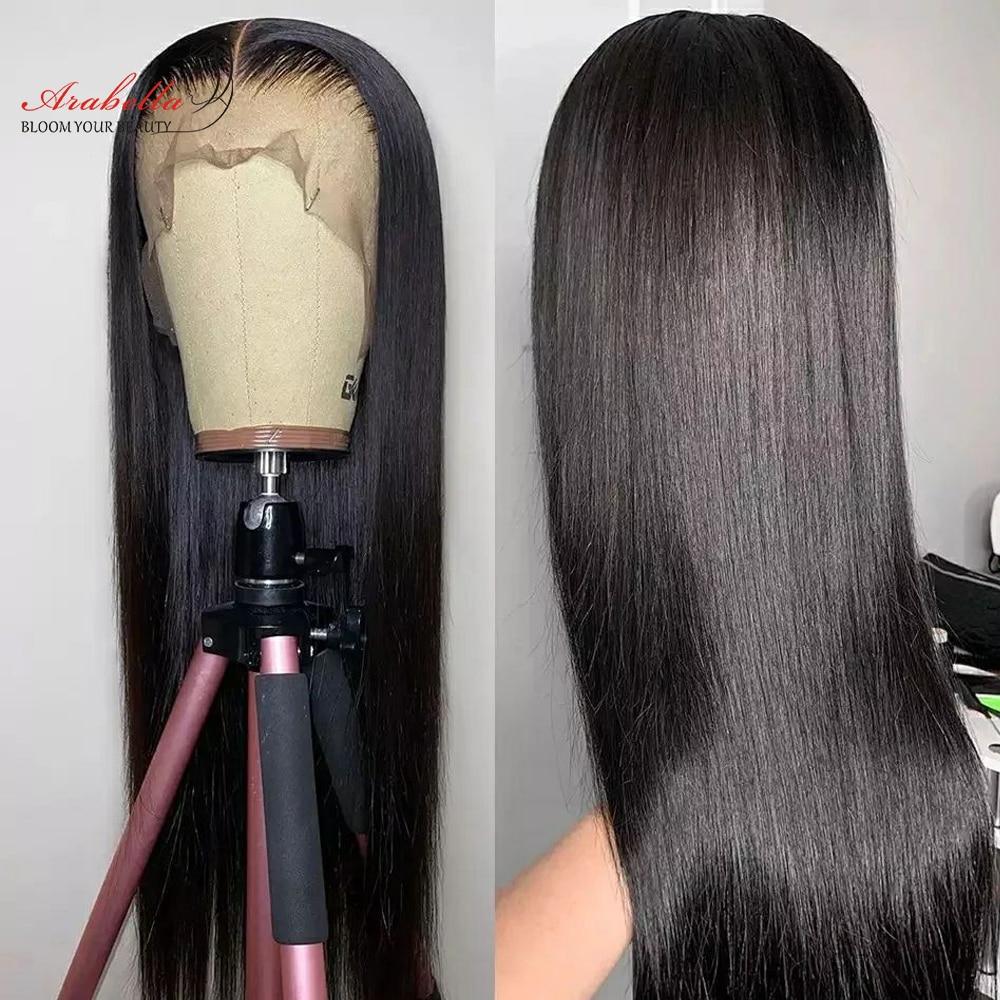 13x5x2 прозрачных отделения Синтетические волосы на кружеве al человеческих волос парики с детскими волосами прямые часть синтетические волос...