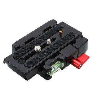 Image 2 - Wysokiej jakości dla Manfrotto 577 501 500AH 701 aluminium płyta szybkiego uwalniania montaż P200 adapter zaciskowy statyw kamery akcesoria
