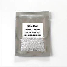 White cubic zirconia stone for jewelry making