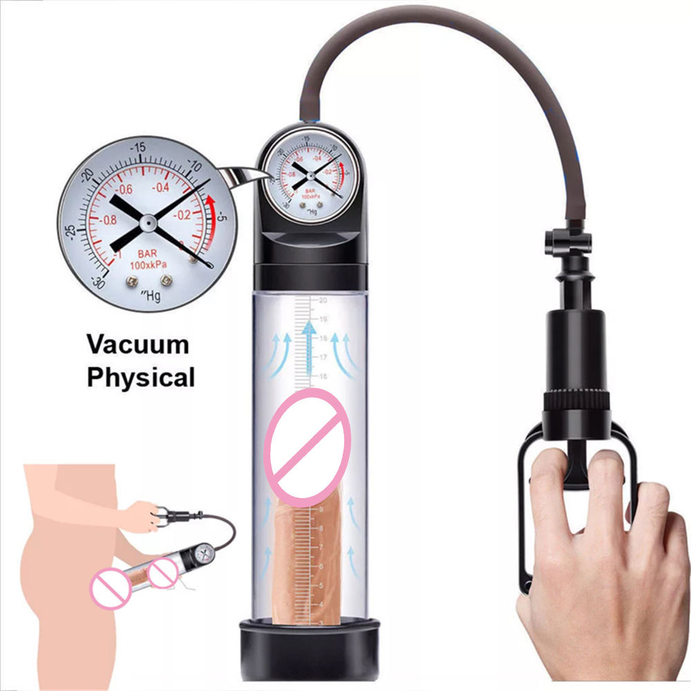 Penis Pump Enlarger Masturbator Sex Toy Extender Adult Male for Delay Lasting Trainer Vacuum Penis Enlargement Exercise Tools in Pumps Enlargers from Beauty Health
