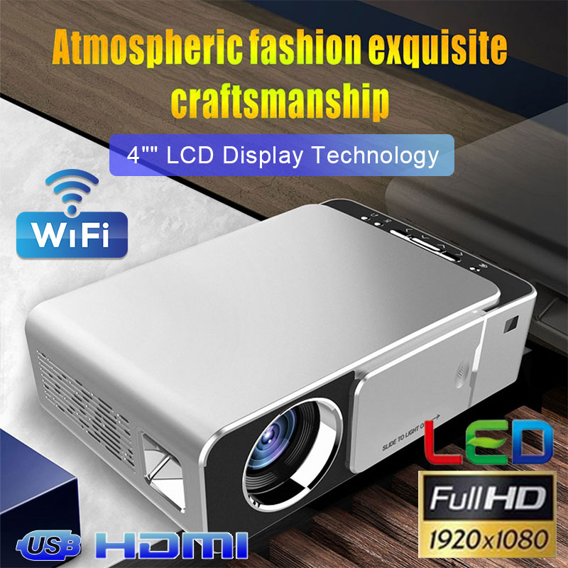 T6 complet 720 P/1080 P projecteur Android 7.1WIFI 2.4G 3500 lumens Home cinéma projecteur Support AirPlay DLNA Miracast Proyector