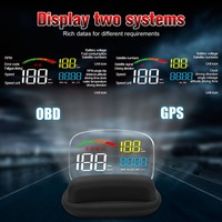 Hot C800 Head up Display OBD2 II GPS Overspeed Warning System Projector Windshield Car Electronic Voltage Alarm For Cars