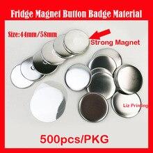 Button-Badge Magnetic 58mm 500pcs Fridge-Magnet-Material