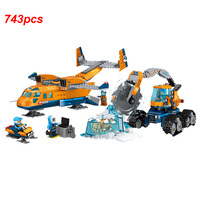 New City Series Polar Supply Exploration Machine Building Blocks Set Brick Toys For Children Airplane Model Kids Gifts
