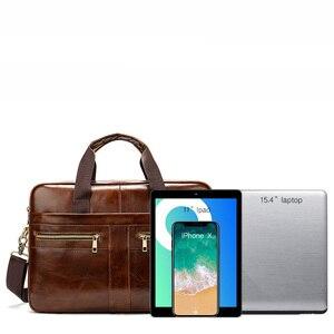 Image 4 - 2020 nouveau porte documents mode affaires hommes sac à main en cuir véritable hommes sacs de messager meilleurs sacs pour ordinateur portable poignée supérieure