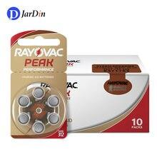 60 baterias 312 a312 312a za312 pr41 s312 do auxílio auditivo dos pces do pico de rayovac bateria de ar do zinco para próteses auditivas de bte