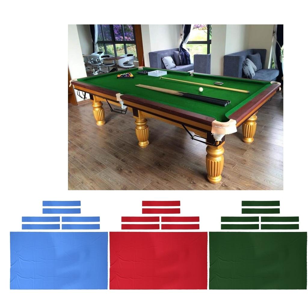 0.6mm Thickness Billiard Snooker Cloth Felt for 9 Foot Table 3 Colors Professional 9 ft Pool Table Felt 6 Felt Strips