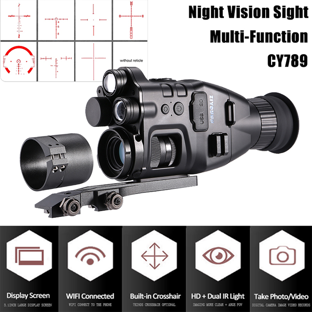 Multi-Functional 850nm+940nm Double Infrared Digital Night Vision Aim Sight Camera 24X Zoom Hunting Riflescope for Day & Night 3