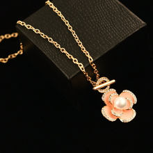New Flowers Famous Luxury Brand Designer Fashion Charm Jewelry Pearl Necklace For Women(China)