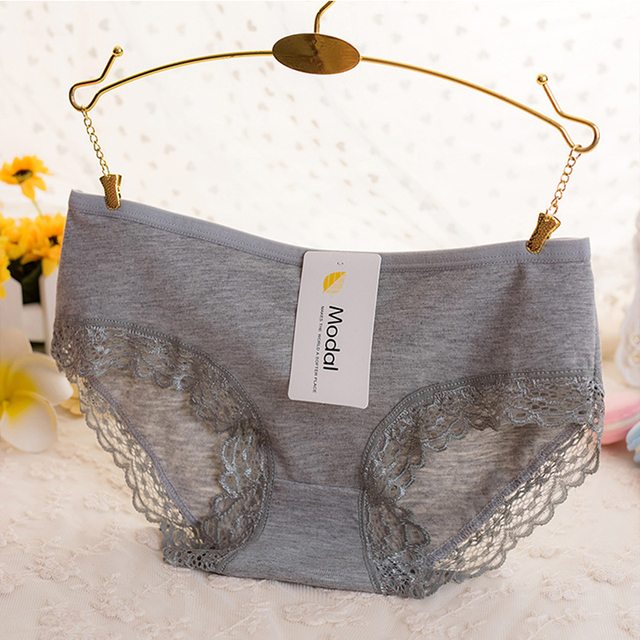 Bamboo Charcoal Fiber High Elasticity Panties Sexy Lace Underwear Popular Cotton Underwear Women Hot Sale 1 PC
