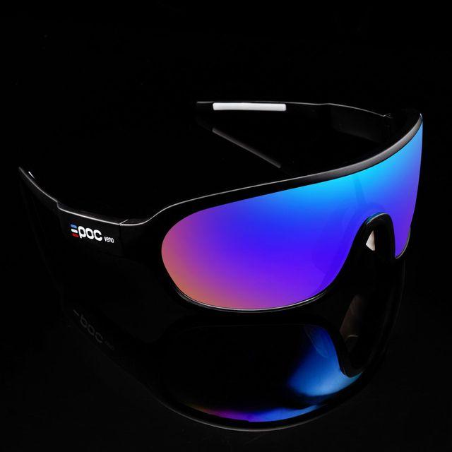 E poc novo estilo ciclismo esportes ao ar livre óculos 4 lente óculos de bicicleta de escalada de montanha óculos de proteção para os olhos 3