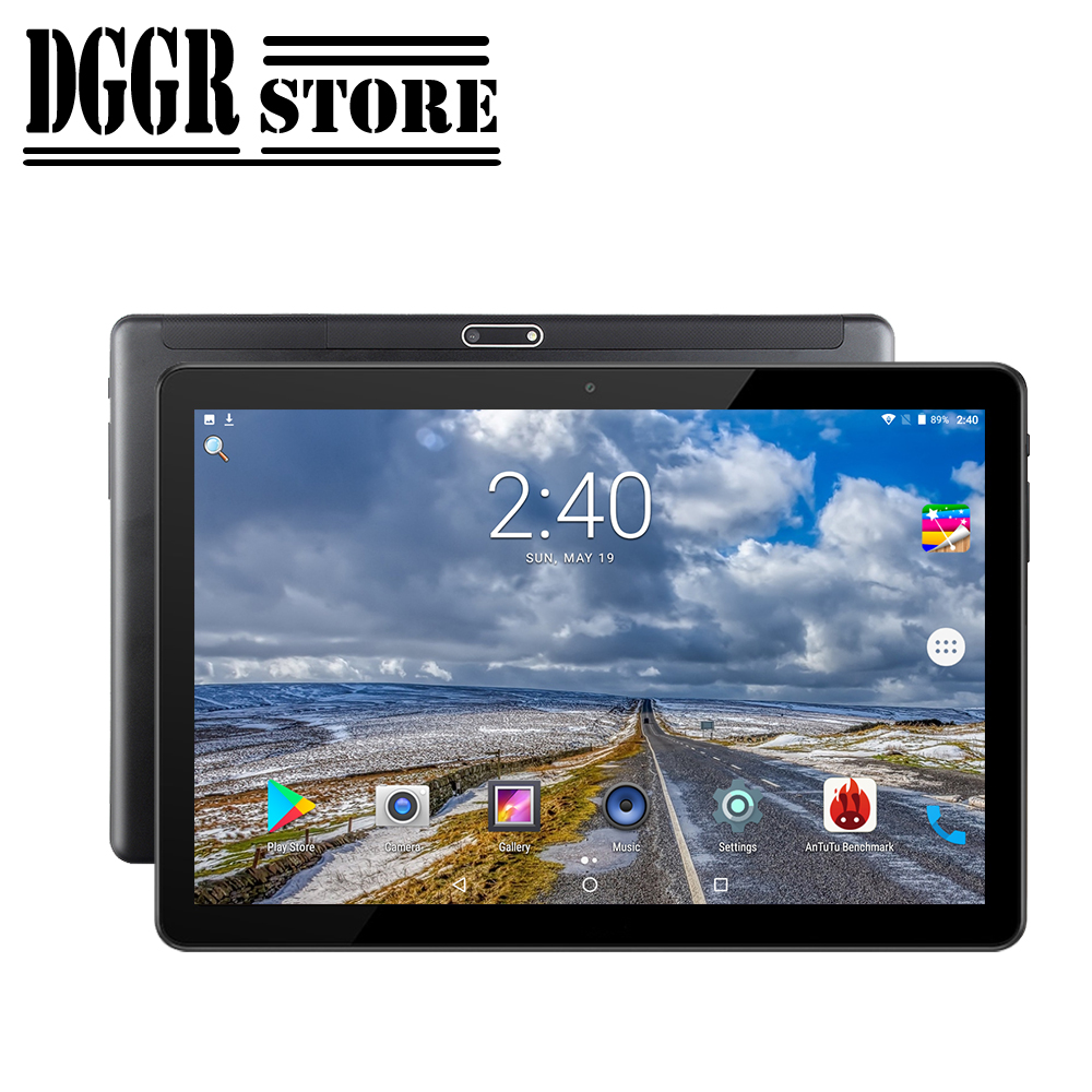 BOBARRY 10.1 Inch Tablet Global Version Android 9.0 Support Google Play YouTube Video Dual SIM Card WCDMA 3G WiFi GPS Bluetooth