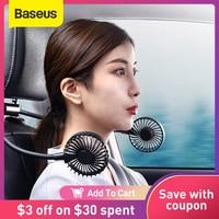 Baseus Auto Zwei-Headed Fahrzeug Fan Mini USB Flexible Silent Lüfter Kühler Luftkühlung Fan Zwei Ebene Starken Kühlen wind