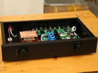 Finished WE420A/5755+12AU7 Tube Preamplifier Stereo C19 HiFi Vacuum Tube Pre Amp New
