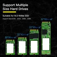 Baseus M2 SSD Case NVME External Hard Drive Case M.2 to USB Type C 3.0 Hard Drive for NGFF SATA M/B KEY Disk Case SSD Caddy