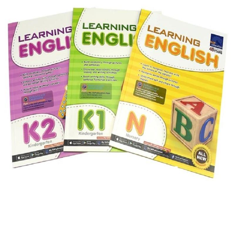 3 Books/Set Sap Learning English Collection Book N-K2 Kindergarten English Problems Teaching Books