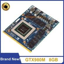 Marke Neue GTX 980M GTX980M 8GB N16E-GX-A1 Video Graphics VGA Karte Für HP MSI Dell Alienware Clevo Laptop GDDR5 Arbeits Perfekt