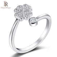 Bague Ringen, хорошие продавцы, серебро 925, ювелирное изделие, кольцо на палец, женский стиль, для бизнеса, Подарок на годовщину, подарок на счастливый клевер, простой подарок