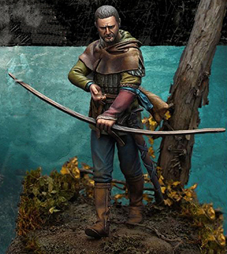 1/32 54mm  Ancient Warrior Stand With Arrow  Resin Figure Model Kits Miniature Gk Unassembly Unpainted