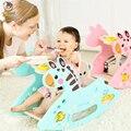 Nette Kunststoff Tiere Schaukel Hourse mit Musik Dual Verwenden Schaukelpferd Sitz Dual Zweck Kinder Fahrt 1-6 jahre alte Baby Spielzeug