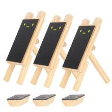 3Pcs Mini Rectangle Chalkboard Blackboard Seat Stand Message Board Labels Name Plates Place Holder Wedding Table Party Decor(China)