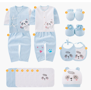 Image 4 - 18 חתיכות תינוק ילד בגדי 100% כותנה יילוד בגדי גריי קטן פנדה יילוד תינוקת בגדי תינוקות בגדי ילד סטים