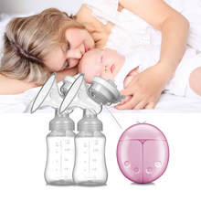Oeak Automatic Electric Double Breast Pumps Manual Breast Pump Nipple Suction Breast Baby Feeding Pump Powerful Milk Sucker(China)