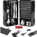 115pcs screwdriver screwdriver set mobile phone repair multifunctional hand tool precision instrument electronic DIY kit bit