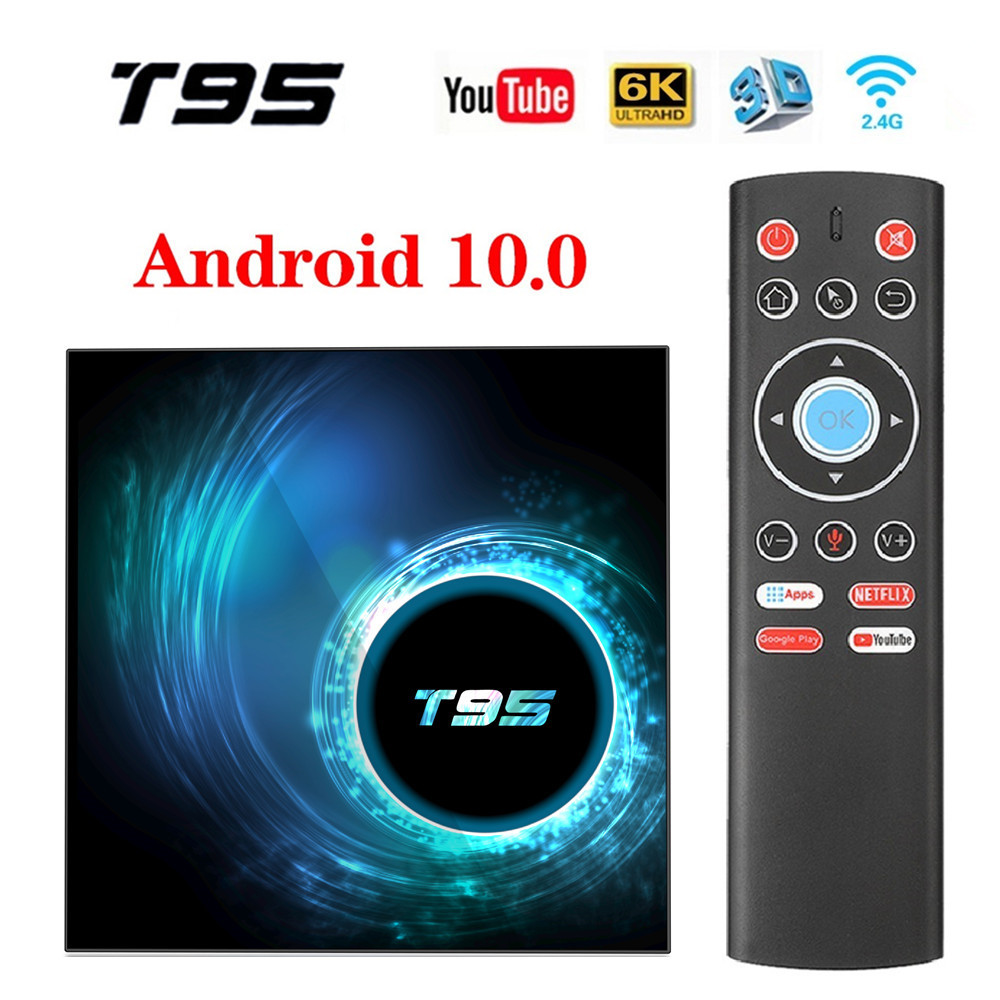 <font><b>T95</b></font> <font><b>TV</b></font> <font><b>Box</b></font> Android 10.0 Allwinner H616 Quad Core 4GB 64GB Wifi 1080P H.265 4K Set top Media player Youtube Smart Android <font><b>Tv</b></font> <font><b>BOX</b></font> image