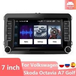 Автомобильный мультимедийный плеер, стерео-приемник на Android 10,0, с GPS, для VW/Volkswagen/Golf/Passat/Touran/Skoda/Octavia/Polo/Seat, типоразмер 2DIN