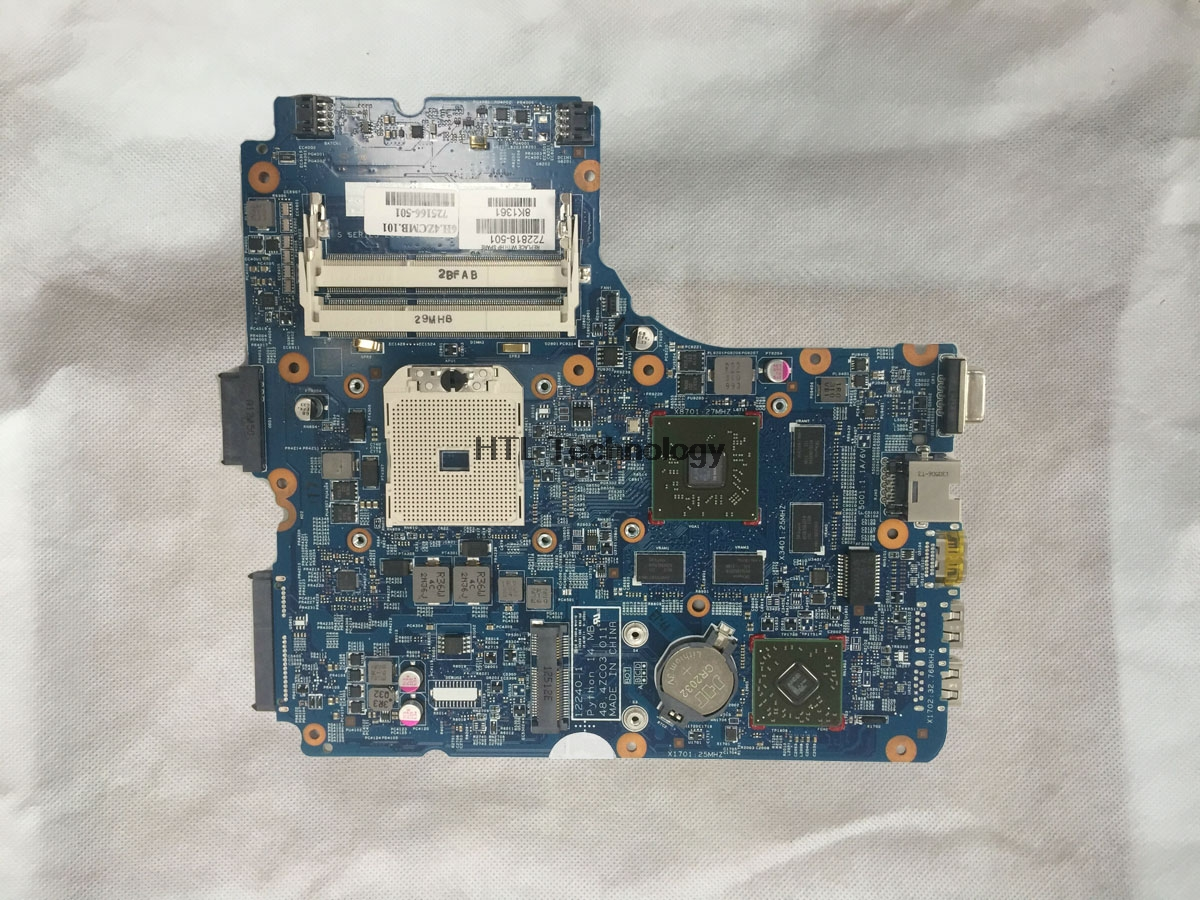 HOLYTIME Laptop <font><b>Motherboard</b></font> For <font><b>HP</b></font> probook <font><b>455</b></font> G1 722818-501 48.4ZC03.011 socket FS1 HD 8750M DDR3 image