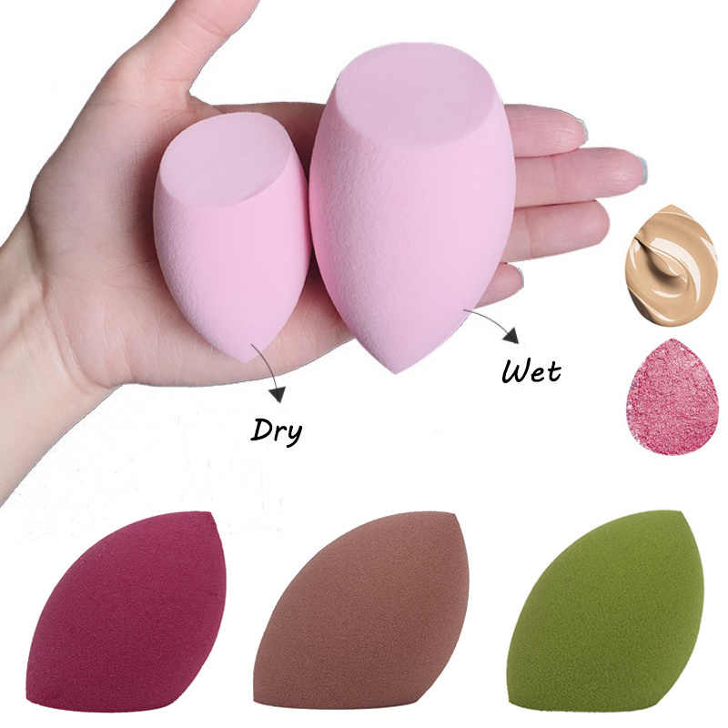 1Pcs Water Drop Shape Cosmetische Puff Make-Up Spons Blending Gezicht Vloeibare Foundation Crème Make Up Cosmetische Poederdons