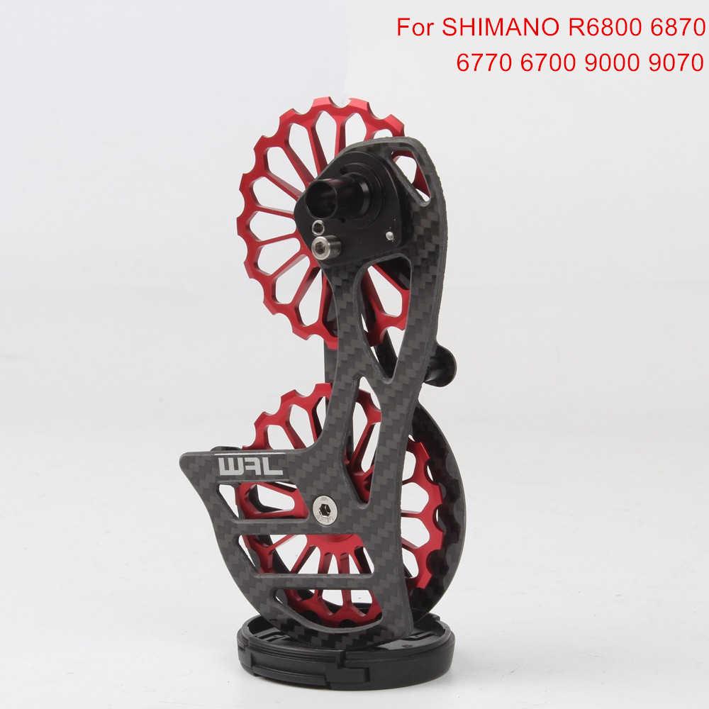 17T Bicicleta de Estrada De Fibra De Carbono Cerâmica Desviador Traseiro Jockey Polia Roda Guia Para Shimano R6800 6870 6770 6700 9000 9070 7000