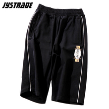 high quality fitness gym shorts men cotton footbal