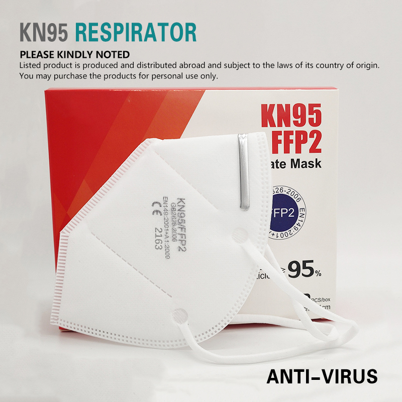 50 Pcs/box KN95 Masque Thicker 5 Layer Face Masks PM2.5 Anti-fog Strong Protective Mouth Mask Respirator Reusable Mascarillas