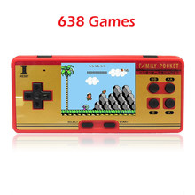 Retro 8bit Dendy Portable Handheld Game player with 588in1 games for free/play 60P game cartridge JP version/TV out/2.8inch LCD(China)