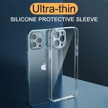 กันกระแทกซิลิโคนสำหรับ Iphone 11 12 Pro Xs Max X Xr 6S 7 8 Plus se 12 Mini เลนส์ป้องกันกรณีปกหลัง