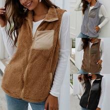 Woman Vest Winter Plus Size Sleeveless Jacket  Sweater Chaqutas Elegantes Dama Ladies Casual Zipper Waistcoat