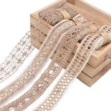 2M 3.5~5cm Width Natural Jute Burlap Roll Ribbon Vintage Hollow Weave Hemp Rope Wedding Party Gift Box Decor Supplies DIY Crafts