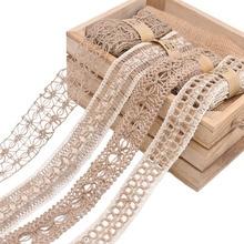 2M 3,5 5 5cm ancho rollo de arpillera de Yute Natural cinta Vintage hueco tejido cuerda de cáñamo boda caja de regalo para fiestas suministros de decoración manualidades DIY
