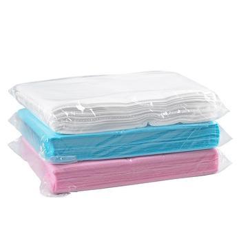 20pcs Disposable Bedsheet Non-woven PE Medical Beauty Salon SPA Sauna Bed Sheet Water Oil Proof 80x180cm White Blue Pink