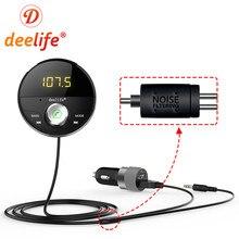 Deelife-transmisor modulador FM Bluetooth para coche, reproductor Mp3, adaptador AUX Jack de 3,5mm, BT 5,0, receptor de Audio, Kit manos libres para Auto