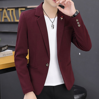 2020 Men's Autumn New Solid Color Suit Youth Handsome Casual blazer